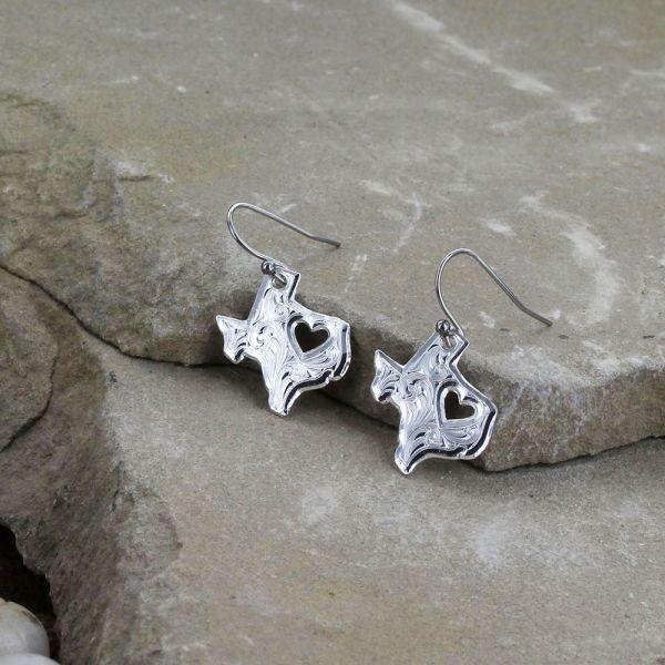 I Heart Texas State Charm Earrings