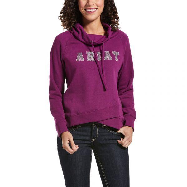 "Ariat Damen Sweatshirt Hoodie ""R.E.A.L. Sequin"" Imperial Violet"