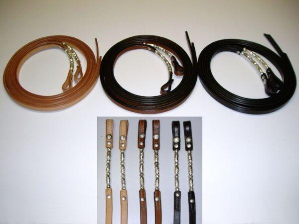 "Showzügel 1,6 cm (5/8"") mit Silver Roller Pipes"