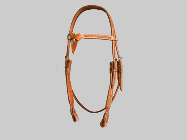 Kopfstück Hell Stirnband geknotet mit Muster Bitende mit Schraube