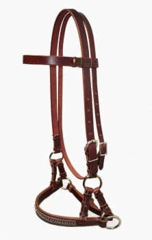 Side Pull - Latigo Leder mit Muster
