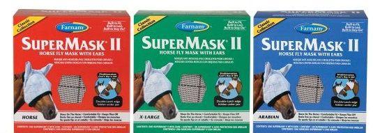 Fliegenmaske Supermask II mit Ohren