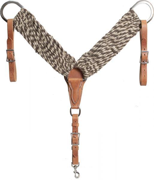 Mustang Vorderzeug 100% Alpaca/Mohair Twisted Breast Collar Horse