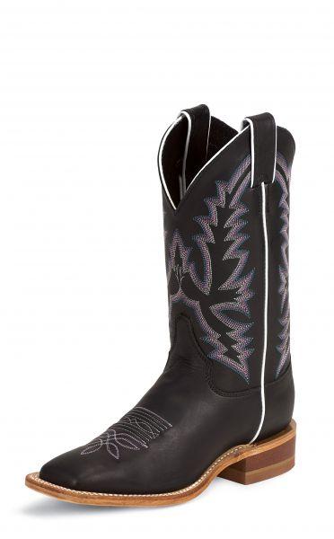 Justin Damen Boot BLACK BURNISHED CALF