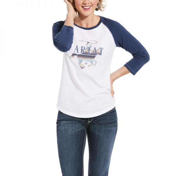 "Ariat Damen T-Shirt ""REAL Serape Rider Tee"""