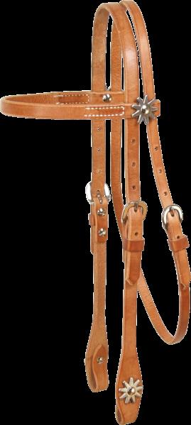 Schutz Brothers Kopfstück Harness Leder Sporen am Stirnband und Backenende