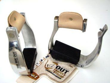 Sicherheits Alu Steigbügel - mit seitlicher Notöffnung