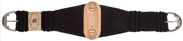 Mustang Sattelgurt 100% Mohair Roper schwarz (Black)