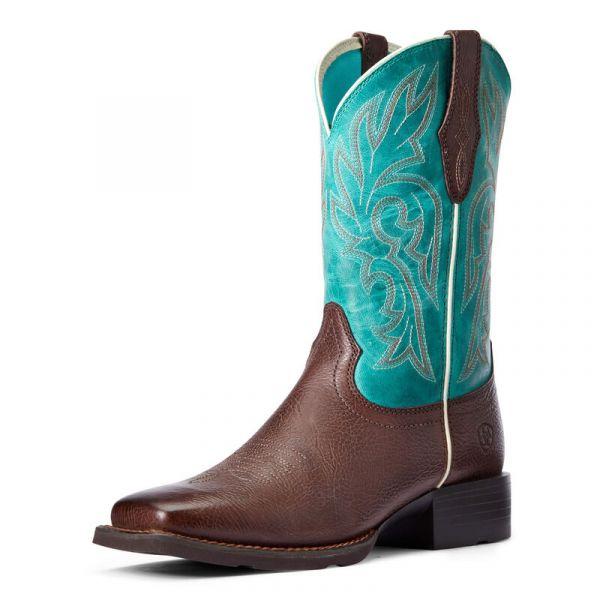 """Ariat Damen Western Boot """"Cattle Drive"""" dark cottage / turquiose"""