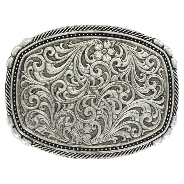 Gürtelschnalle Antiqued Pinpoints and Twisted Rope Trim Buckle