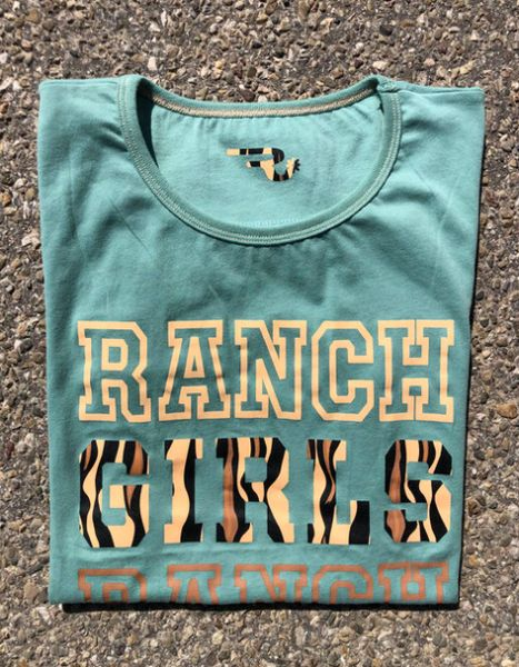 "OSWSA RANCHGIRLS Round Neck T-SHIRT ""Ranch"" lindgrün"