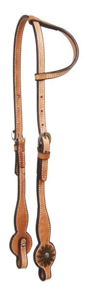 Swell Cheek Headstalls Antiqued Conchons